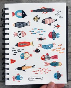 Fish is another subject that I enjoy drawing as a meditative exercise. It comes effortlessly, easily, and it relaxes me, takes the pressure off. #illustrationoftheday #illustration #fish #sketchbook #sketch