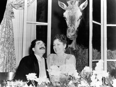 """Groucho with Margaret Dumont in """"At The Circus"""""""
