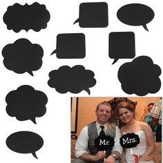 10X Karneval Hochzeit Party Foto-Verkleidung Maske Props Photo Booth Chalk Board