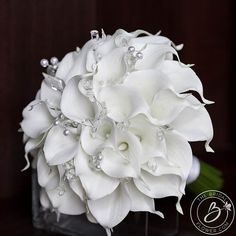 White calla lily wedding bouquet real touch bridal bouquet