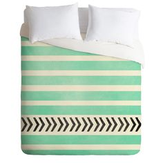Maybe for Bed? Allyson Johnson Mint Stripes And Arrows Duvet Cover | DENY Designs Home Accessories