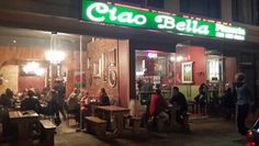 Ciao Bella Pizzeria - largest pizza in the Strand and the Helderberg area. Highly recommended independent restaurant.....real thin base pizza and no scimming with the fillings. A place for the pizza afficionades who do not like doughy pizzas.