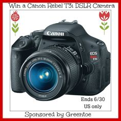 #Win Canon Rebel T3i DSLR Camera ($599 arv)!! Ends 6/30 – US only