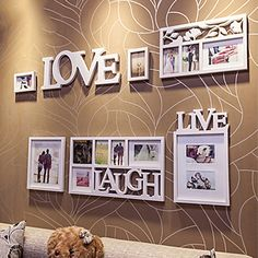 Romantic Style Photo Wall Frame Collection - Set of 7