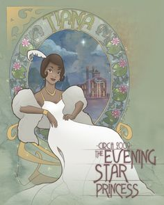 Durnesque: Princess Obsessed Princess - Tiana Art Nouveau by ProbablyMabey For...