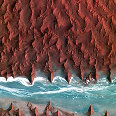 The Namib desert: Stretching more 1,200 miles along the Atlantic coast in southern Africa, it forms the coastline of Angola, Namibia, and South Africa