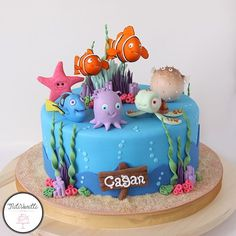 Nemo cake inspired by Pinterest #nemocake #caketopper #birthdaycake #birthday #celebrationcake #butikpasta #butikpastacilik #nemopasta #cocukpastasi