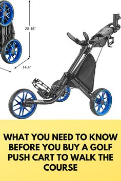 With many states and local governments requiring golfers to walk when they play golf or limiting the number of riders per golf cart, more golfers are turning to walking carts -- push carts, pull carts and electic golf carts -- to make walking the golf course a better experience compared to carrying their bag on their back. Golf Push Cart, Golf Carts, All Pro, Golfers, Play Golf, Need To Know, Turning, Golf Courses, Walking