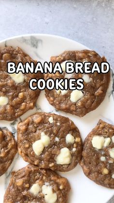 Healthy Cookies, Healthy Sweets, Healthy Baking, Healthy Snacks, Healthy Recipes, Healthy Desserts With Bananas, Banana Recipes Vegan, Banana Bread Cookies, Gluten Free Banana Bread
