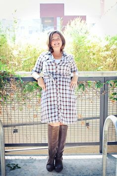 I'm mad about plaid! A great plaid shirt is a bit like wearing pajamas so a great plaid shirtdress just feels even better! Pair with your favorite boots for a simple look and you're ready to go
