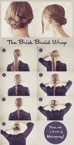 The Brisk Braid Wrap | 23 Five-Minute Hairstyles For Busy Mornings