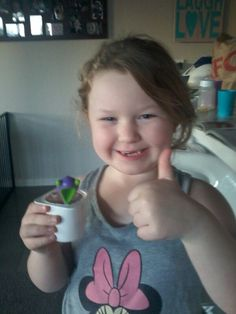 How to mack your kids love yoghurt   .1 get a yoghurt eney flavor .2 get nerds the Cady ad in your yoghurt .3 ad 3 jellybeans eney flavor .4 ad just a little bit of ice cream .5 enjoy your yoghurt