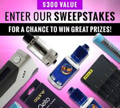 NEW Vape Giveaway from Tasty Vapor! Enter to win a $300 Vape Kit (DNA Mod + More)