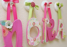 Nursery Letters.....I made some of these for my babies nursery.