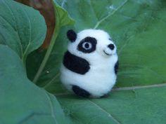 Needle Felted Pudgy Panda Bear