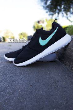 98bb916affa0d5 Custom Neon Green Roshe Run. See more. I love the black against the  turquoise