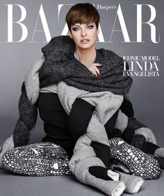 US Harper's Bazaar September 2014 cover - Linda Evangelista