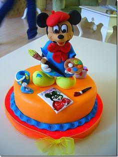 Mickey Mouse cake ~ super cute!