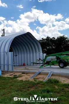 Strength, versatility, and affordability—those are just a few of the reasons why customers around the world come to SteelMaster when they need a steel quonset hut garage. #garage quonset hut | steel garage | diy garage | steel buildings