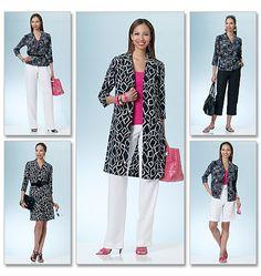 B5500    Misses'/Misses' Petite Shirt, Dress, Shorts and Pants