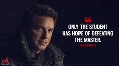 Malcolm Merlyn: Only the student has hope of defeating the master. Hero Quotes, Glee Quotes, Tv Show Quotes, Film Quotes, Words Quotes, Sport Quotes, Arrow Tv Shows, Arrow Tv Series, Scandal Quotes
