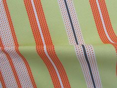 Dotted Stripes: Tangerine & LIme Green by Penina, via Flickr