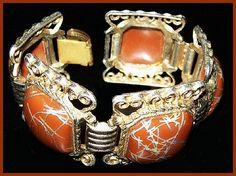 Enamel Bracelet ASIAN Inspired Brown & by BrightgemsTreasures, $34.50