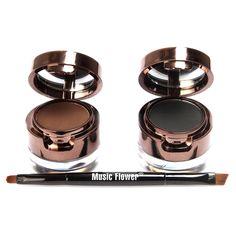 4 in 1 Brown + Black Gel Eyeliner Brown + Black Eyebrow Powder Make Up Water-proof Makeup Cosmetic Eye Liner Kit  M01220