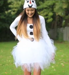 DIY Frozen Olaf Snowman Christmas Costume Idea