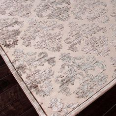 $220.95: Art silk and chenille rug with a damask diamond motif.    Product: RugConstruction Material: Viscose and chenille...