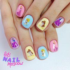 Яркий #nailart и необычный #маникюр от #letsnailmoscow #дисней #маникюрдисней #disneynails #princessnails