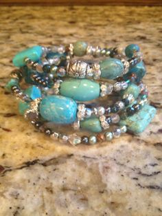 5 layer memory wrap bracelet by MistyRainDesigns on Etsy, $16.00