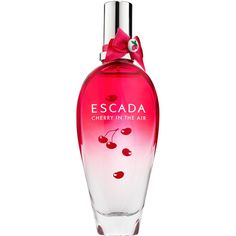 Escada Cherry In The Air (4960 RSD) ❤ liked on Polyvore featuring beauty products, fragrance, perfume, beauty, makeup, filler, escada fragrances, perfume fragrances, escada and escada perfume
