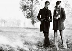 Burberry - Mario Testino - Rosie Huntington-Whiteley,Sam Riley - 2008FW -  fashion ads