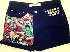 Cuffed Black High Waist Studded Shorts #studded #print #shorts www.loveitsomuch.com