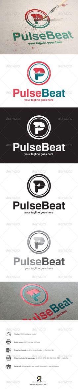 Pulse - Logo Design Template Vector #logotype Download it here: http://graphicriver.net/item/pulse-logo/8197372?s_rank=1371?ref=nesto