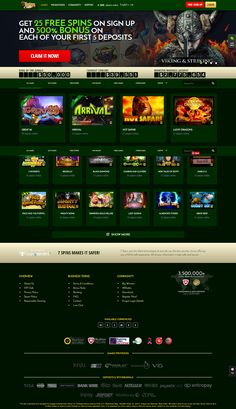 7 Spins Online Casino - Games Welcome Lobby