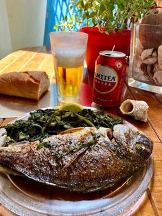 Greek Recipes, Fish Recipes, Seafood Recipes, Recipies, Cooking Recipes, Good Food, Yummy Food, Fish Dishes, Fish And Seafood