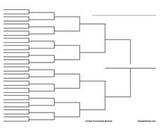 This printable Round Robin tournament bracket can be used