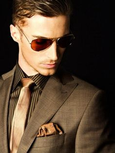The Dapper Gentleman...absolutely gorgeous suit, I am in love w this color. Great for a low key fall wedding.