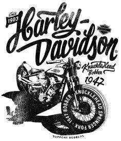ideas bobber motorcycle art for 2019 Logo Harley Davidson, Harley Davidson Sportster, Motos Vintage, Vintage Motorcycles, Triumph Motorcycles, Custom Motorcycles, Motorcycle Posters, Bobber Motorcycle, Harley Bobber