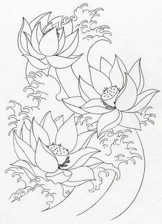 lotus flower tattoo outline