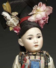 Simon & Halbig Dolls Asian child doll head incised ?1329 GERMANY SIMO