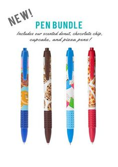 Scented Pens Bundle - NEW! Smells just like real baked goods!