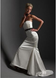 TAFFETA SHEATH STRAPLESS WEDDING DRESS LACE BRIDESMAID PARTY BALL EVENING COCKTAIL GOWN IVORY WHITE FORMAL PROM