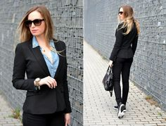 Style Cookbook by Simone: {outfit} black blazer, nike airmax fusion Nike Air Max, Personal Style, Blazer, Jackets, Inspiration, Outfits, Clothes, Women, Fashion