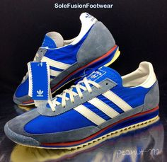 adidas Mens Originals SL72 Running Trainers Blue/Red sz 10 VTG EU 44 2/3 US 10.5