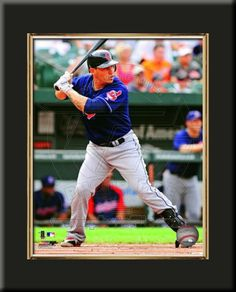 One 8 x 10 inch Cleveland Indians photo of Asdrubal Cabrera inserted in a gold slide-in frame and mounted on a 10 x 13.5 inch solid black finish plaque.  $29.99 @ ArtandMore.com