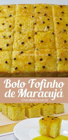Bolo Fofinho de Maracujá com Opção sem Glúten. Um bolo fofo coberto com uma calda de maracujá, super saboroso e fácil de fazer. #receita #bolo #maracujá #receitafácil #doce #sobremesa #passionfruit