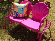 Hot Pink Retro Lawn Furniture at Nest Vintage, Johnson City, TX